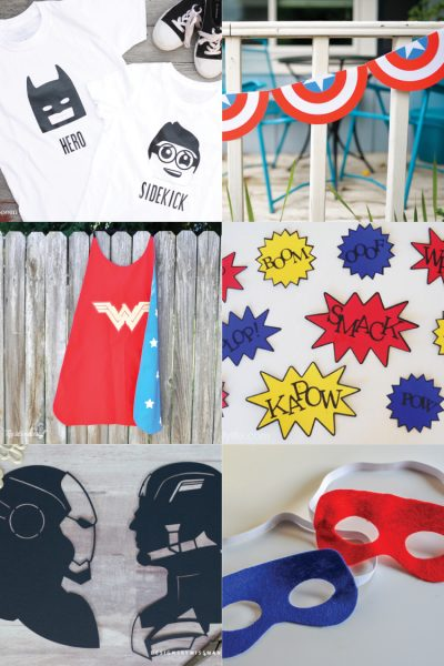 Superhero Party Ideas:  Cut Files + Cricut Projects