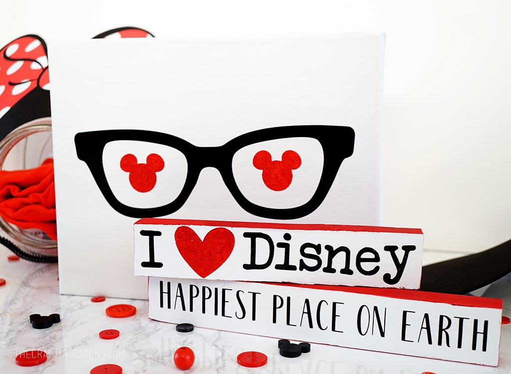 DIY Disney Inspired Signs from thecraftingchicks.com