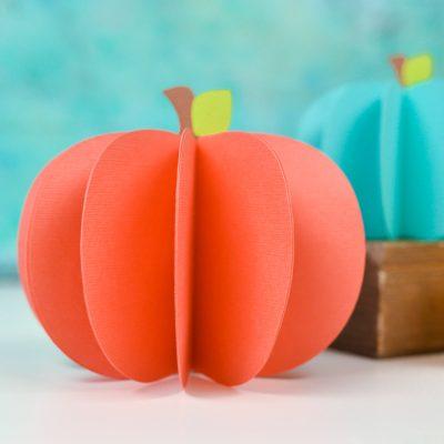 3D Paper Pumpkin Decor – Free SVG