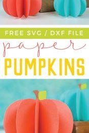 3d Paper Pumpkin Decor Free Svg Hey Let S Make Stuff