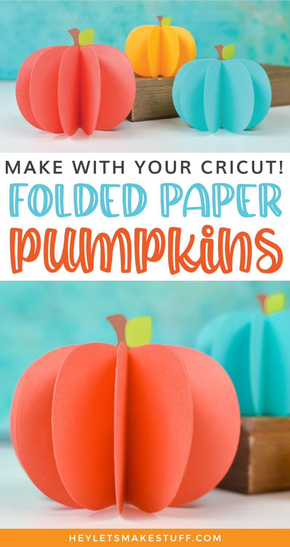 3D Paper Pumpkins pin image