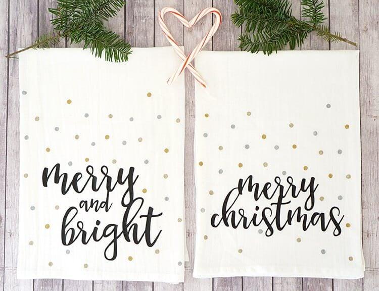 Christmas Tea Towels - Happiness is Homemade