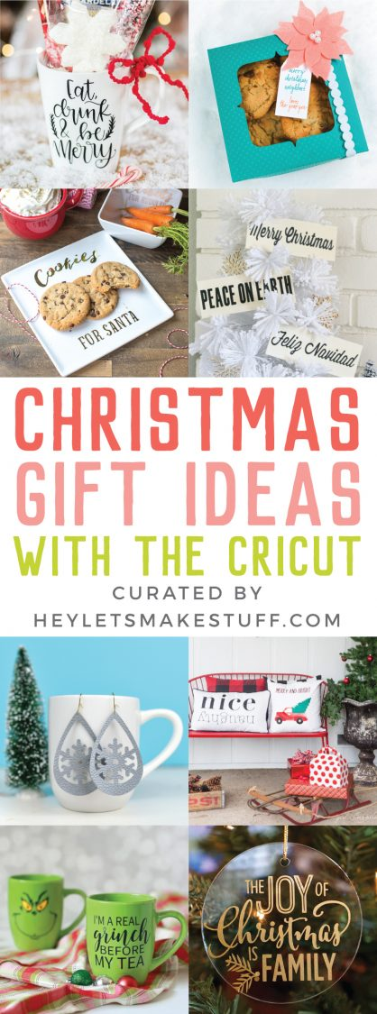 Let's get crafting for Christmas using the Cricut! Here are a ton of easy  Cricut - Easy Cricut Christmas Gift Ideas - Hey, Let's Make Stuff