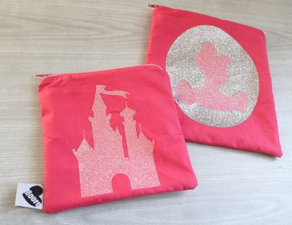 Disney Zippered Pouches (Cricut Only) by 30minutecrafts.com