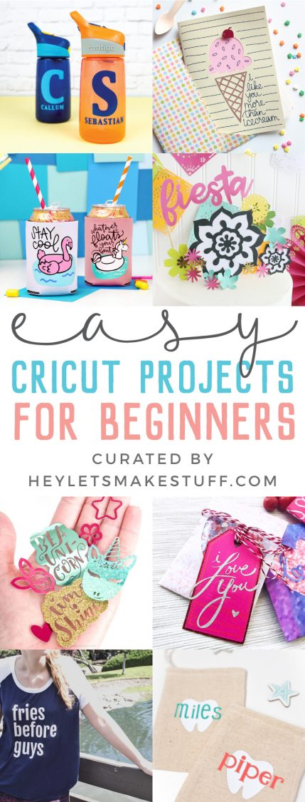 New to using your Cricut? These Cricut projects for beginners are the perfect place to start! Get your feet wet with these fun but easy Cricut crafts using your machine.