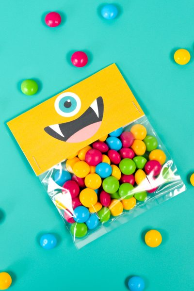 Printable Halloween Treat Bags: Cute Monsters