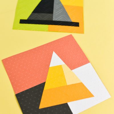 Paper Halloween Quilt Blocks
