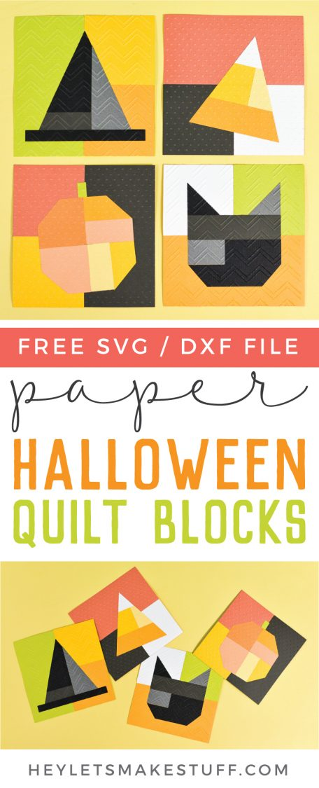 No sewing skills are necessary to make these adorable paper Halloween quilt blocks! Use your Cricut Explore or Maker and Cricut Cuttlebug to make this festive Halloween decor.