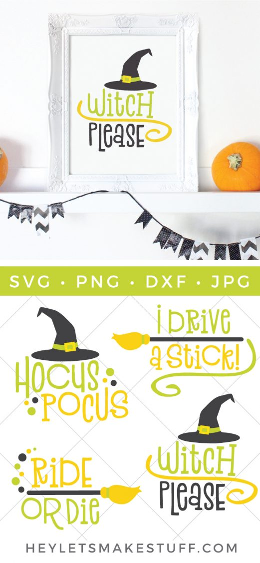 It wouldn't be Halloween without a witch flying around on her broomstick! This Witch SVG bundle is full of fun and funny witch quotes, perfect for Halloween.