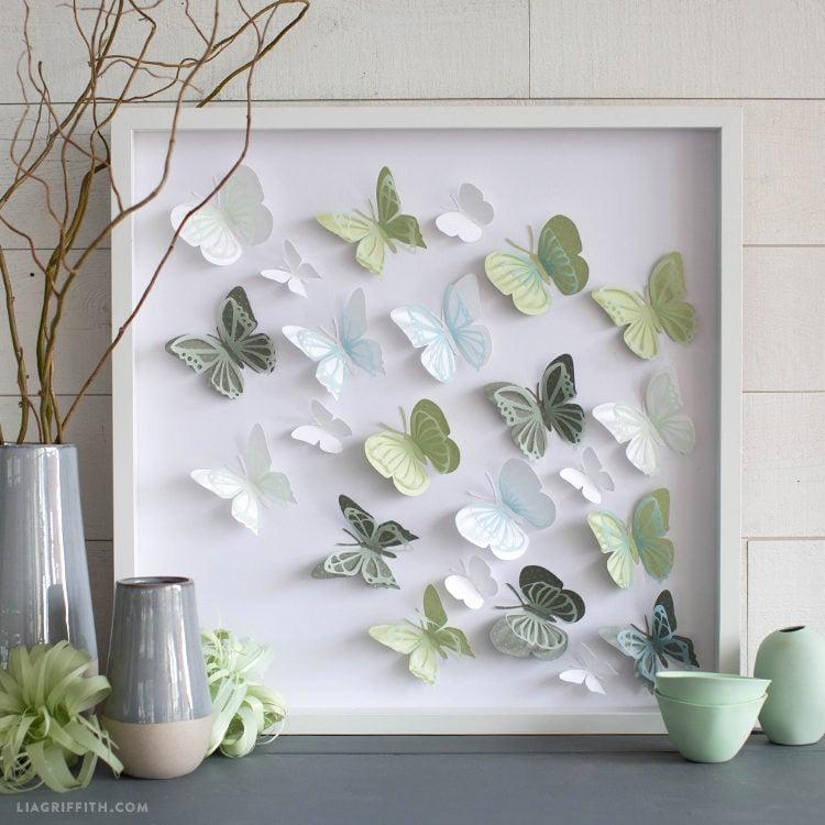 Papercut Butterfly Wall Art
