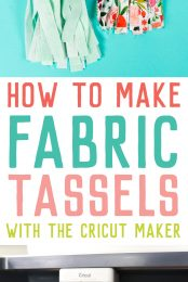 Fabric tassels are easy to make and add a wonderful handmade dimension to any party decor. Want to simplify the process? Here's how to make fabric tassels using the Cricut Maker!