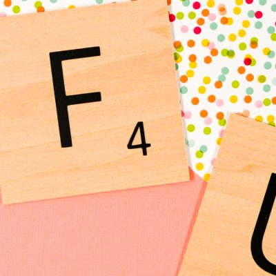 DIY Scrabble Words with Your Cricut – Free SVG!