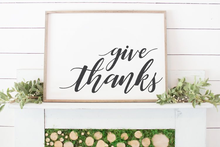 give thanks Cricut fall project