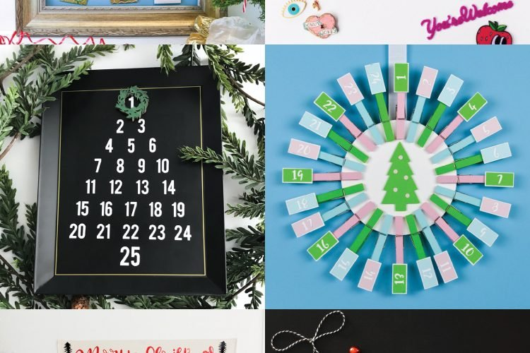 Count down the days to Christmas with these fun Cricut advent calendars! Each of these Christmas advent calendars are made using your Cricut Explore or Cricut Maker—so many festive and fun ideas for your family!