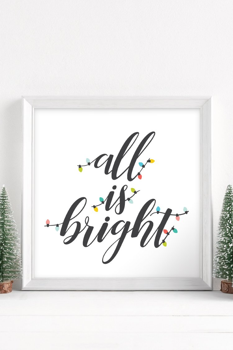 From twinkling Christmas trees to scented candles to strings of outdoor decorations, the holidays are full of light. This All is Bright SVG will light up all your holiday crafts and projects.