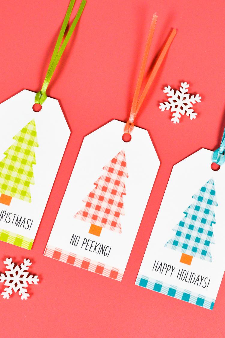 Free Printable Cute Christmas Gift Tags - Hey, Let\'s Make Stuff
