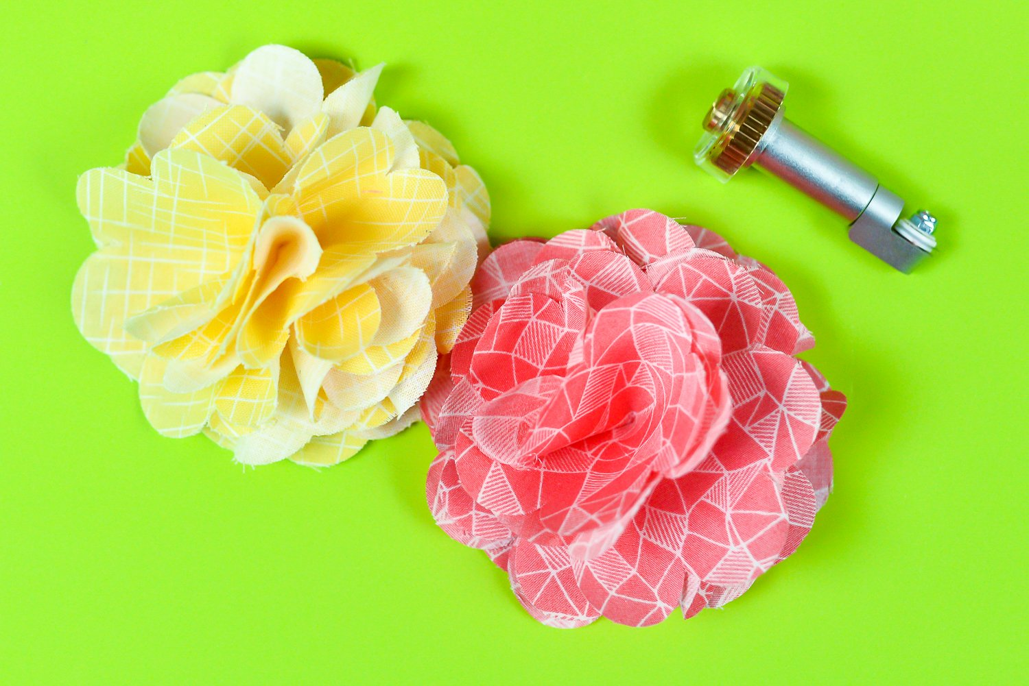 Fabric Flowers with the Rotary Blade