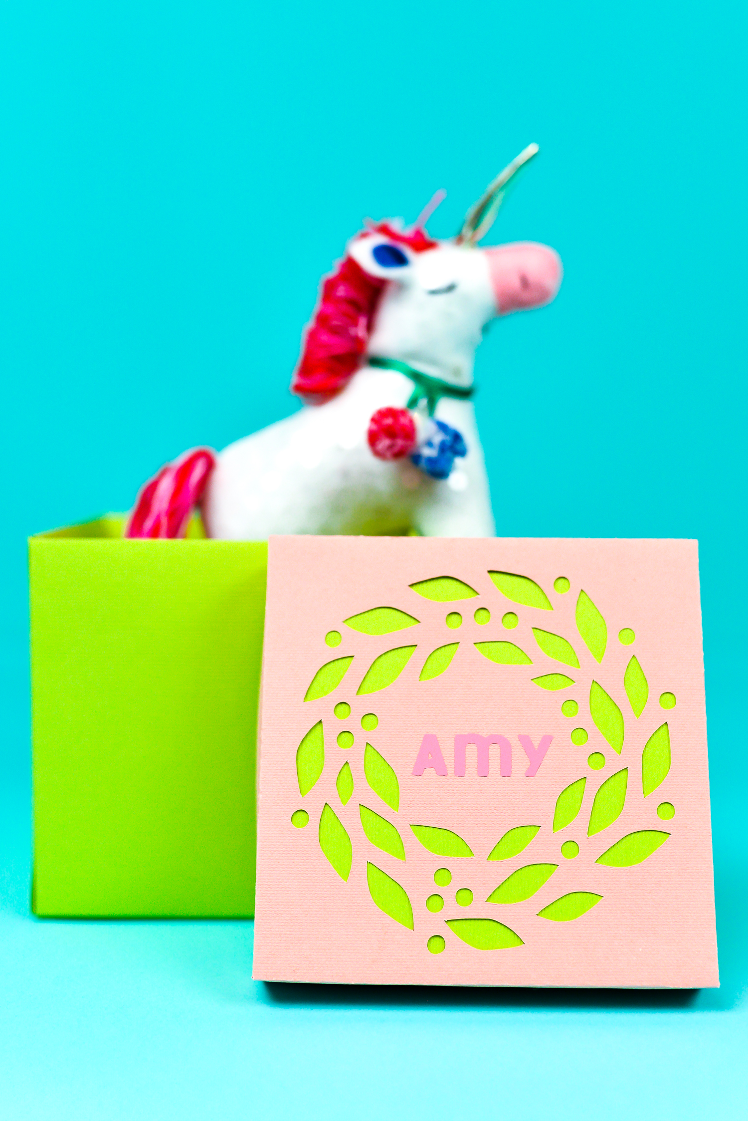 Handmade box with Unicorn Toy