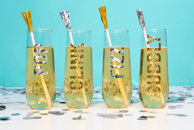 Champagne Flute Decals