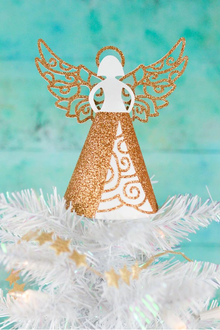 Paper Angel Diy Christmas Tree Topper Hey Let S Make Stuff