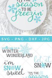 Winter And Snow Svg Bundle Hey Let S Make Stuff