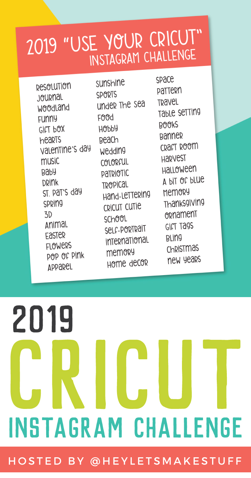 "Want an excuse to use your Cricut more? Finding yourself stuck in a rut with what you're making? The 2019 ""Use Your Cricut"" Instagram Challenge is for you! 52 weekly inspiration prompts, Instagram features, prizes, and more!"