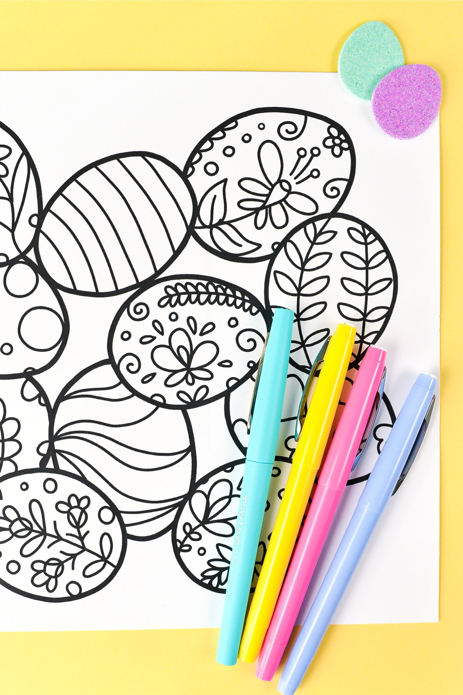 Free Printable Easter Coloring Page Hey Let S Make Stuff