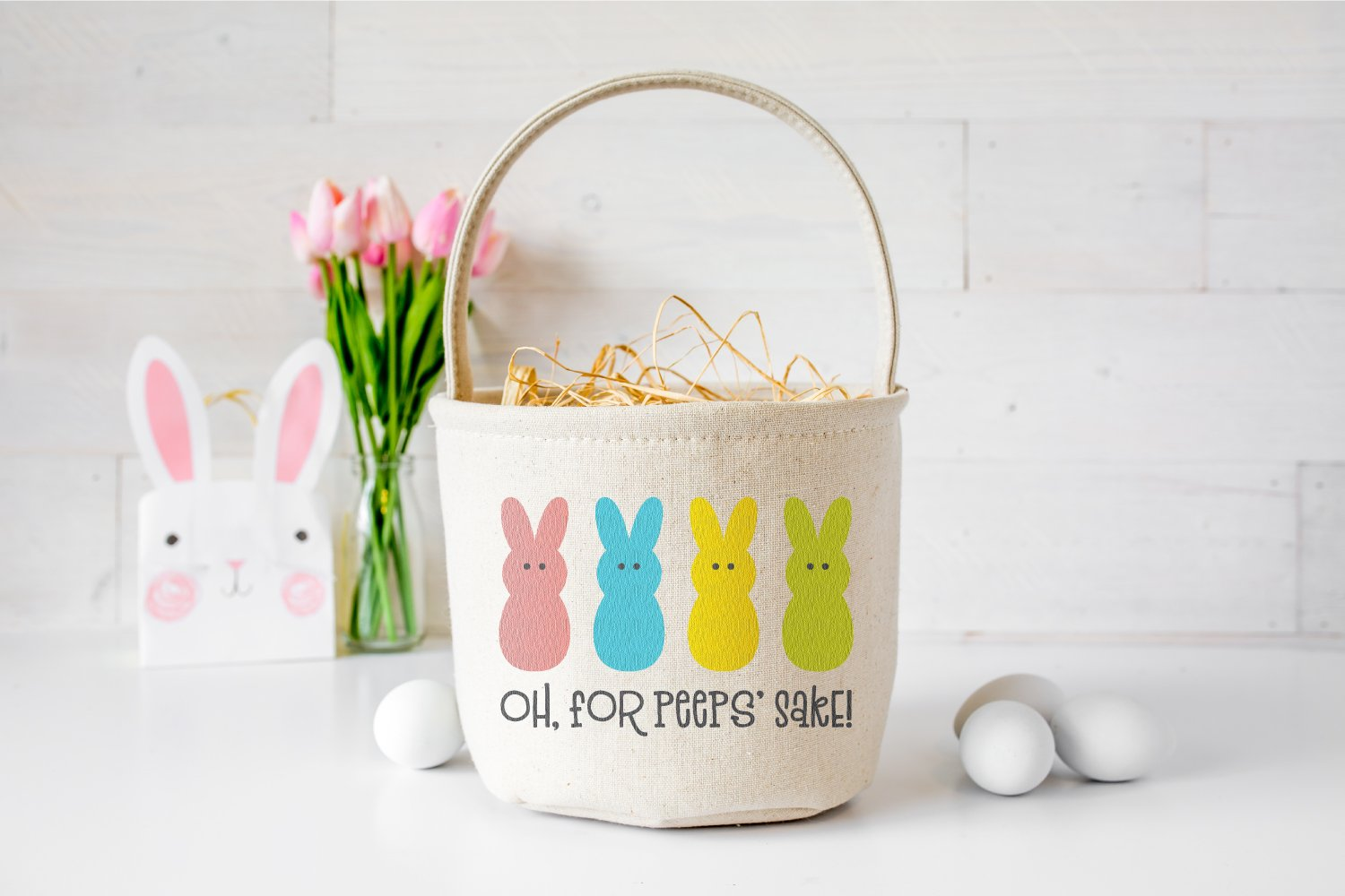 "This ""Oh, For Peeps' Sake!"" SVG is perfect for funny Easter shirts, baskets, pillows, and more"