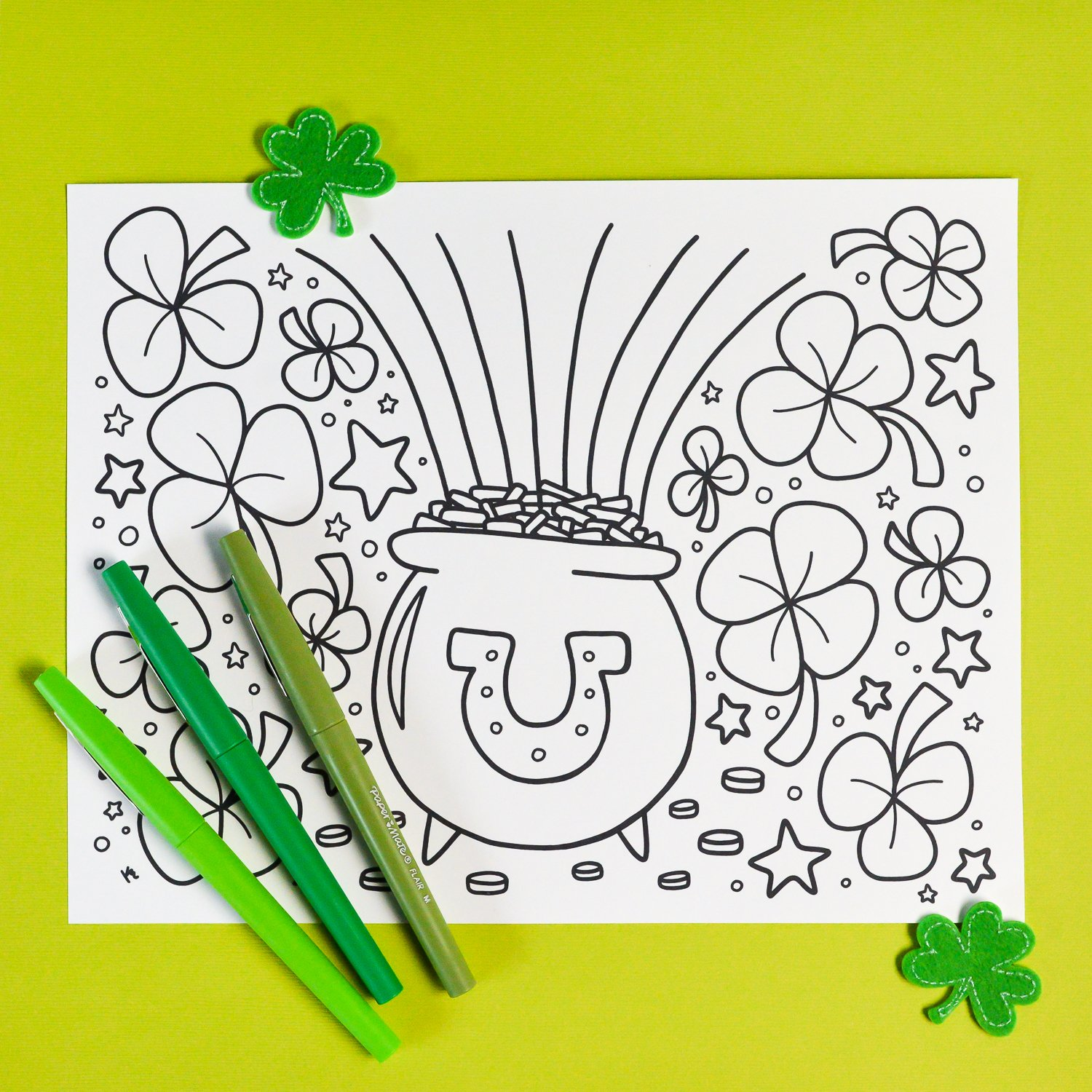 Happy St. Patrick's Day Coloring Page - Get Coloring Pages | 1500x1500