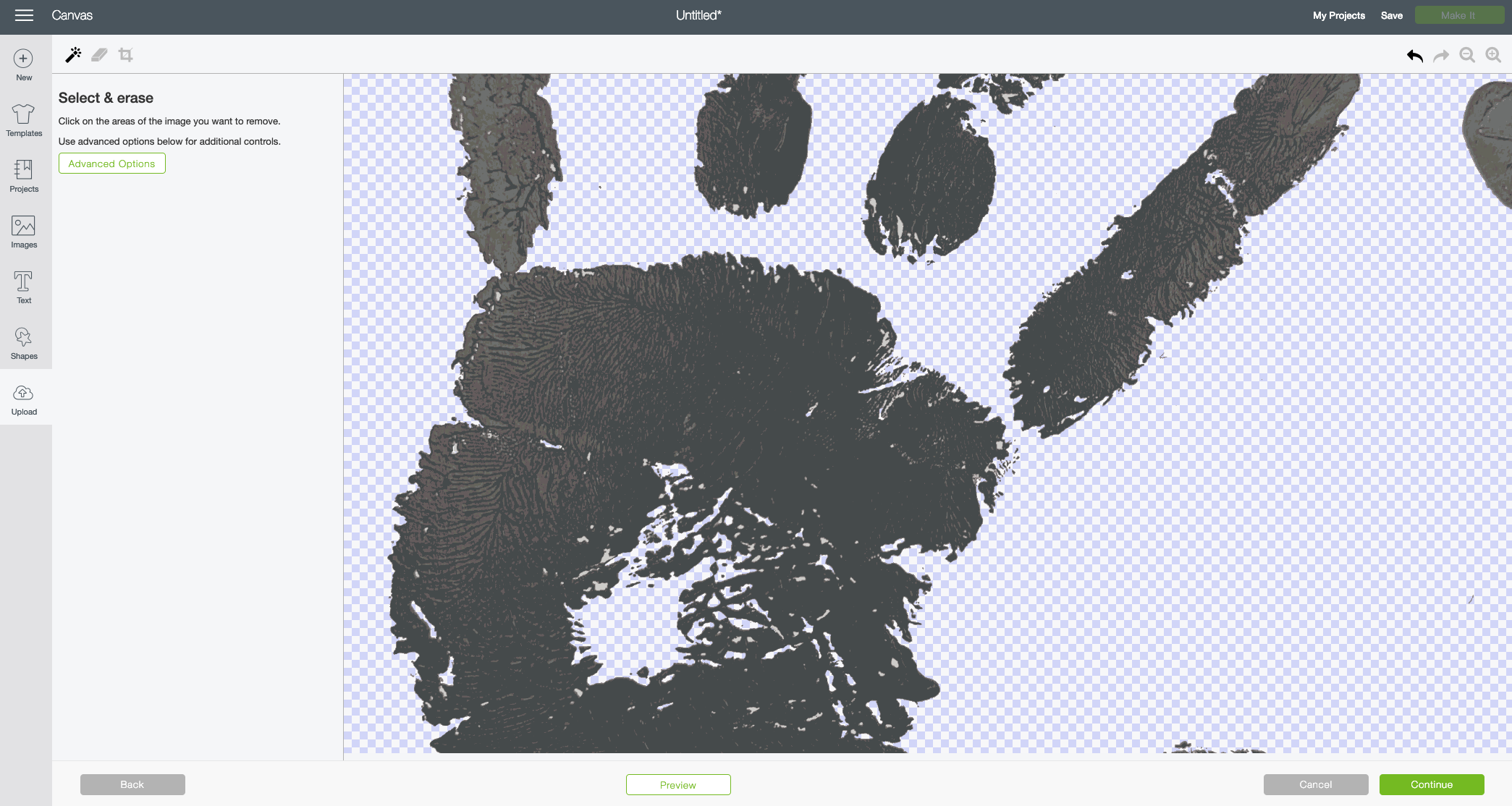 Handprint Craft with the Cricut—Clean up your image