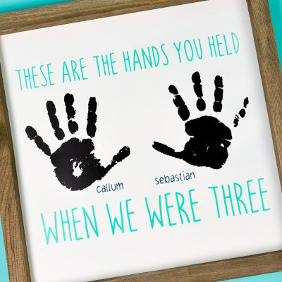Handprint Craft with the Cricut—Perfect for Gift Ideas!