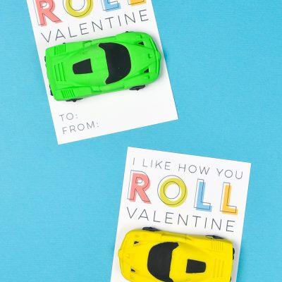 Free Printable Race Car Valentines