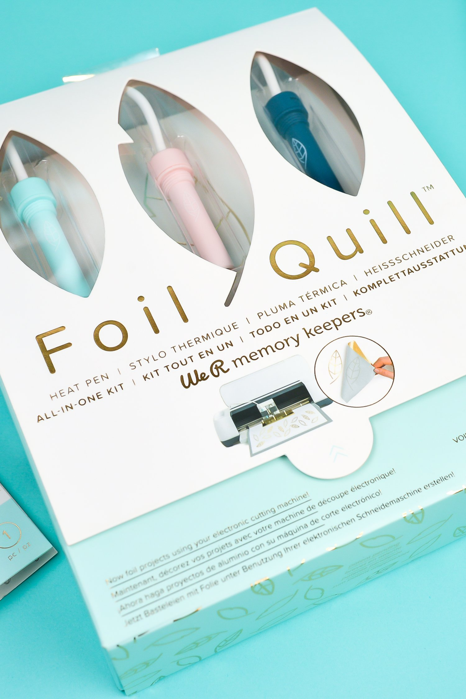 Take your cutting machine crafts to the next level with the Foil Quill! What is the Foil Quill? It's a revolutionary heating tool that works in all major cutting machines to beautifully foil projects on a variety of materials! Here are all the details about this awesome new tool.