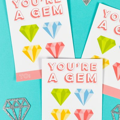You're a Gem: DIY Sticker Valentines with Your Cricut