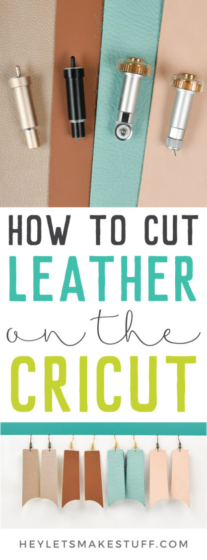 How to cut leather on the cricut pin image