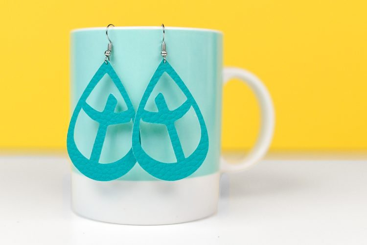 Make these DIY cross earrings using your Cricut or Silhouette.
