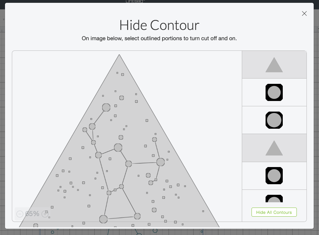 use Contour in the lower left to delete the triangle from around the shape
