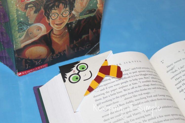 Harry Potter printable corner bookmark
