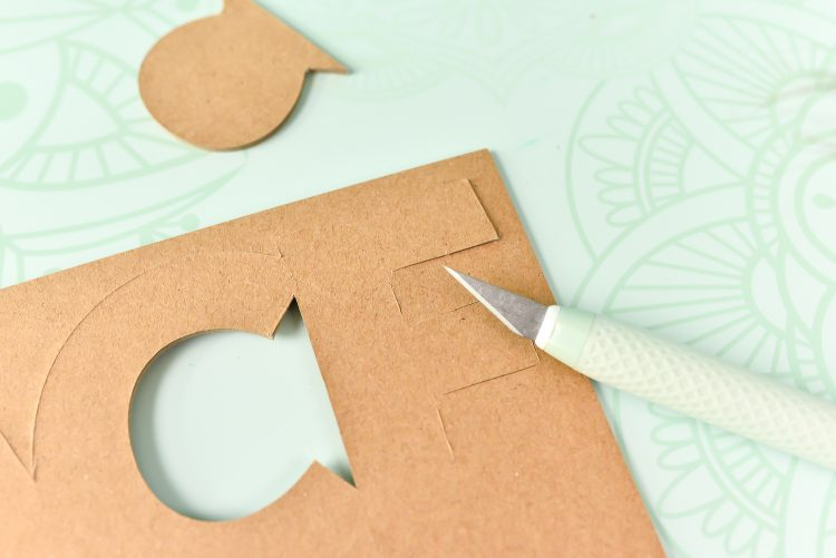 use the True Control Knife on my self-healing mat to carefully finish the corner cuts.