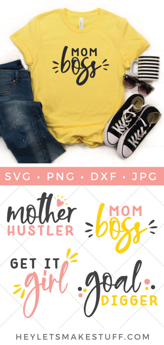 Hey mamas, this Mom Boss SVG File Bundle will motivate you to keep on rockin' it, like you do!