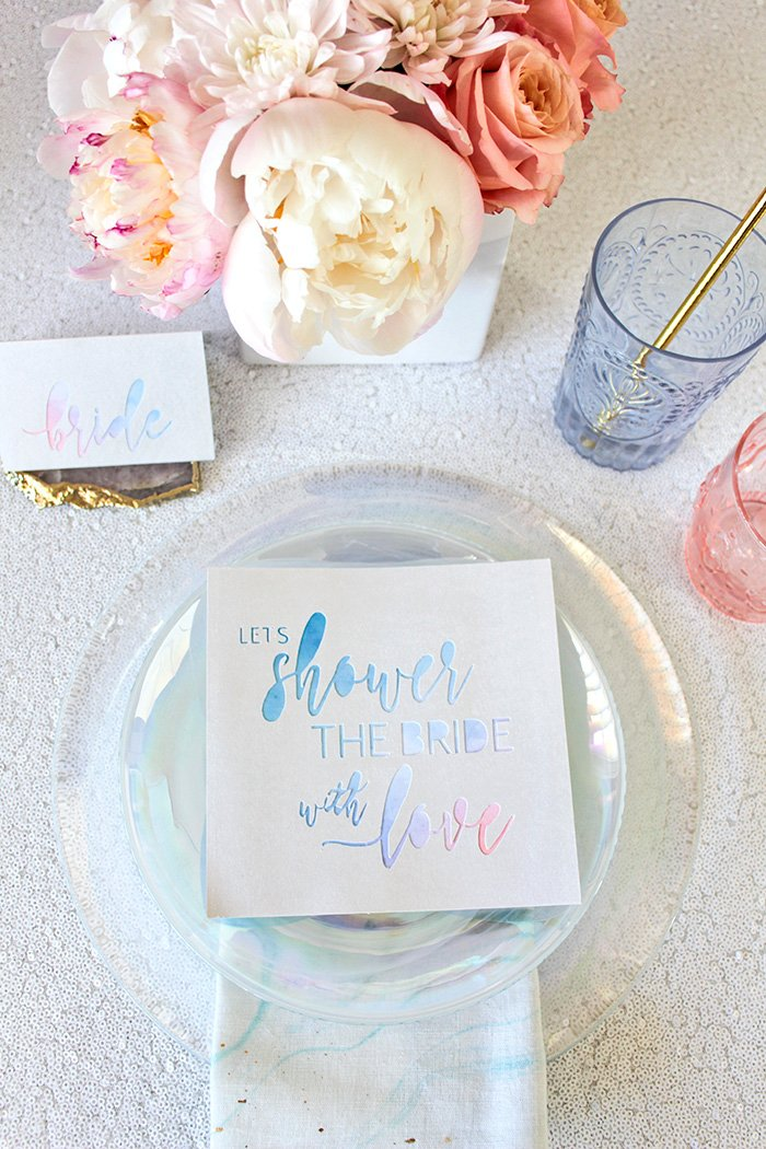 Is it even a bridal shower if there are no unicorns? Heyweddinglady.com combines fantasy and style into magical DIY Unicorn Bridal Shower themed decor and accessories.