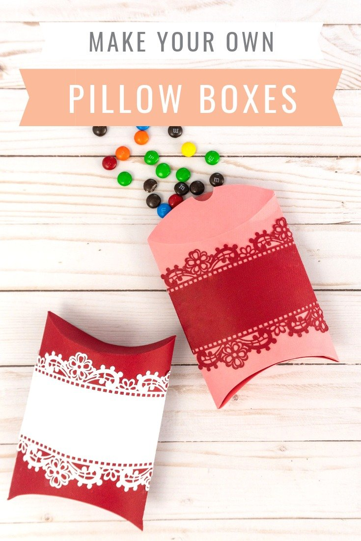 Make these elegant, lace-accented Pillow Boxes from practicallyfunctional.com and fill them with special treats for all your bridal shower guests.