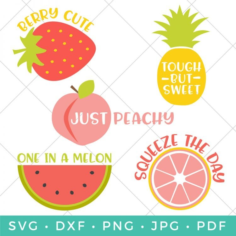 Celebrate the brightness of summer with this free Cute Fruit SVG Bundle! Four sweet and fruity designs, perfect for all your summer projects and crafts.
