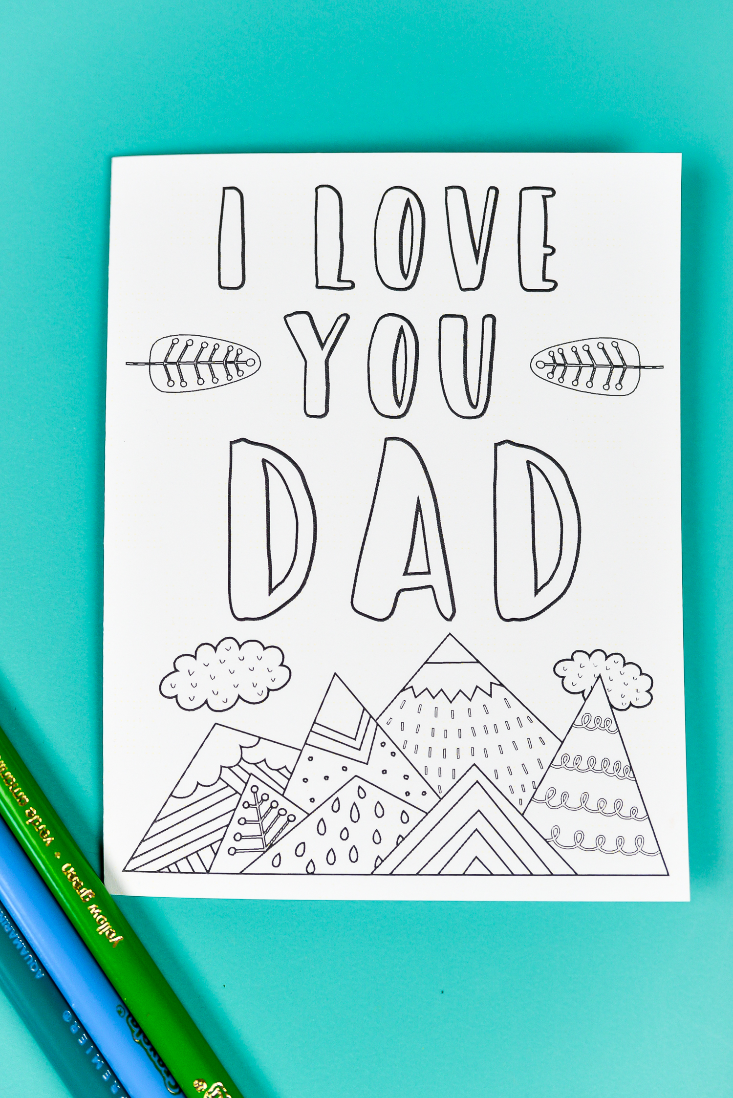 "These printable Father's Day card and gift tags are designed to be colored (plus get a bonus coloring sheet!)! They are nature-themed—awesome if dad doesn't like tools, golf, barbecuing, or other ""typical"" dad things!"