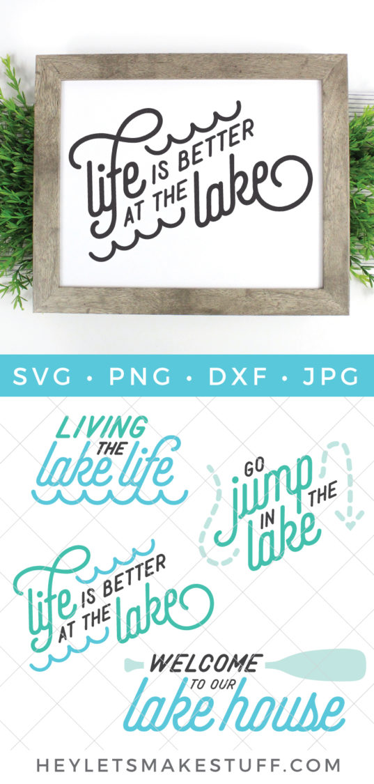Whether you're floating, swimming, lounging or fishing, this Lake Life SVG Bundle has everything you need to get out on the water.