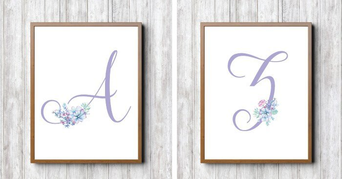 Customize your baby's nursery and make it special with a beautiful set of succulent monograms from heyletsmakestuff.com.
