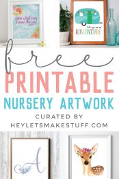 Add some adorable cuteness to your little one's nursery with this amazing collection of Free Nursery Printables! Whatever your theme, there's something for every style.