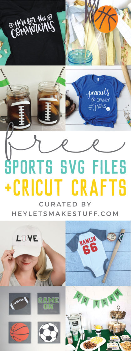 Baseball star, basketball phenom, football champ or athletic supporter - everyone's an MVP with this Free Sports SVG File Bundle. Deck out those uniforms, water bottles, hats and make some awesome fan gear!