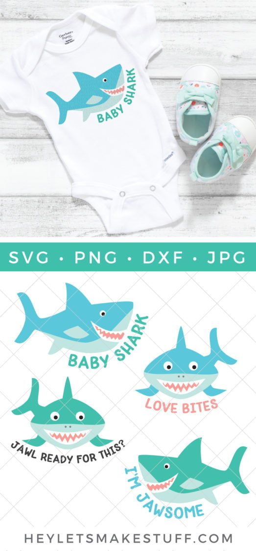 Baby shark is everywhere! Bring the cute little, sharp-toothed ocean dweller to life with this Shark SVG Bundle. Shark week is coming, do you have your tees, tanks, television viewing party decor and fan gear ready?
