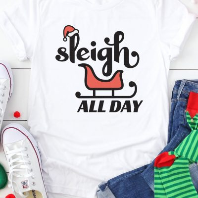 Sleigh All Day SVG + 15 Free Christmas Cut Files